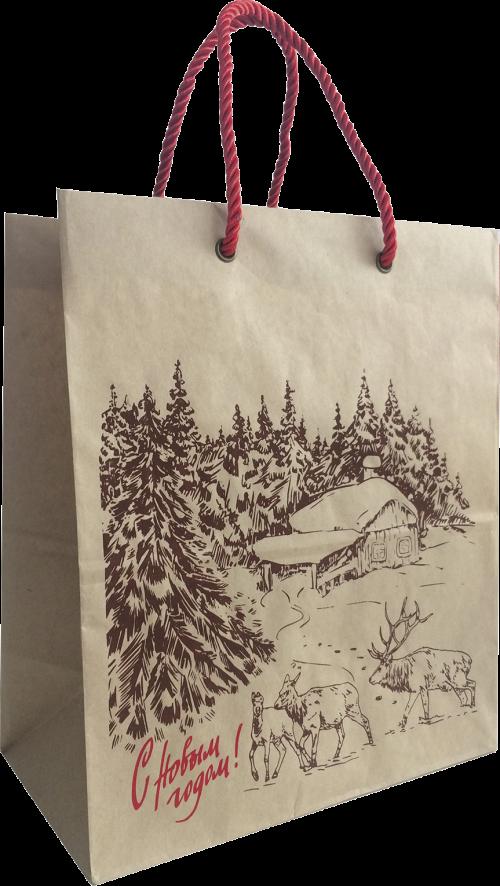 Шкатулка Зима в лесу<br>(c пакетом)