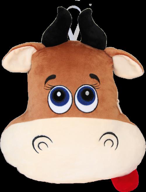 Плед-подушка бычок