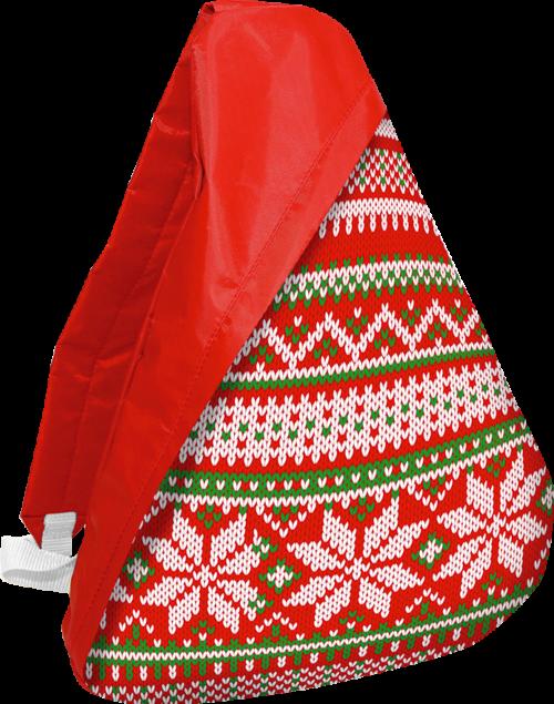 Рюкзак на одно плечо красный
